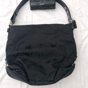 """Coach Bags - Coach Black Signature """"C"""" Handbag"""